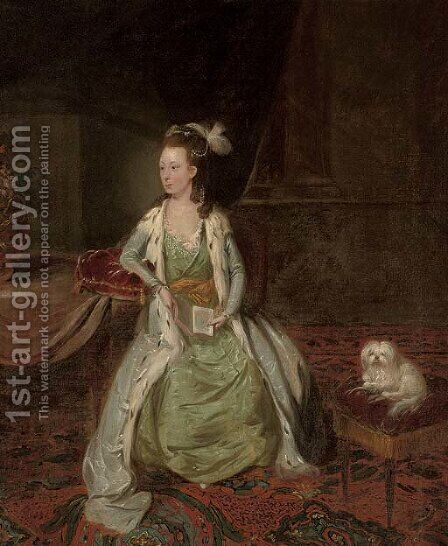 Portrait of a lady by (after) Johann Zoffany - Reproduction Oil Painting
