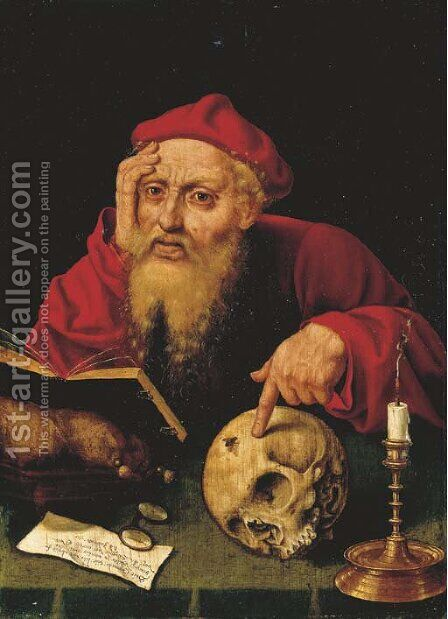 Saint Jerome by (after) Cleve, Joos van - Reproduction Oil Painting