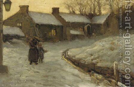 Winter by (after) Joseph Farquharson - Reproduction Oil Painting