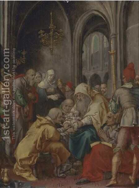 The Circumcision by (after) Joseph The Elder Heintz - Reproduction Oil Painting