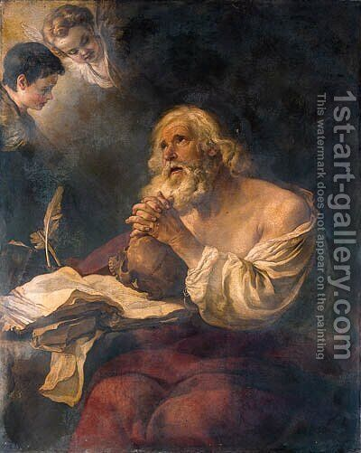 The Penitent Saint Jerome by (after) Joseph-Marie Vien - Reproduction Oil Painting