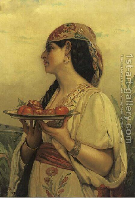 Ragazza Napolitana by (after) Jules Joseph Lefebvre - Reproduction Oil Painting