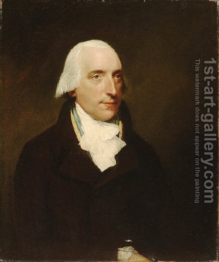 Portrait of a Gentleman, said to be Mr. Osgood Gee (1744-1823) by (after) Lemuel-Francis Abbott - Reproduction Oil Painting