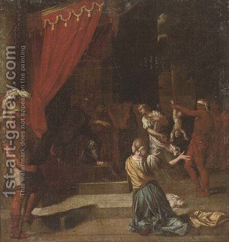 The Judgement of Solomon by (after) Louis Boullogne Le Vieux - Reproduction Oil Painting