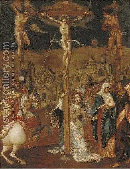 The Crucifixion by (after) Louis De Caullery - Reproduction Oil Painting