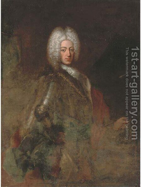 Portrait of a gentleman by (after) Louis De Silvestre II - Reproduction Oil Painting