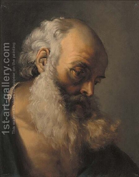 Saint Jerome by (after) Louis-Jacques Durameau - Reproduction Oil Painting