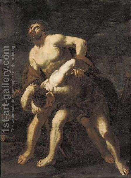 Hercules and Achelous by (after) Luca Giordano - Reproduction Oil Painting