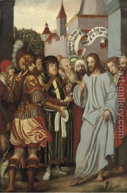 The Tribute Money by (after) Lucas The Younger Cranach - Reproduction Oil Painting