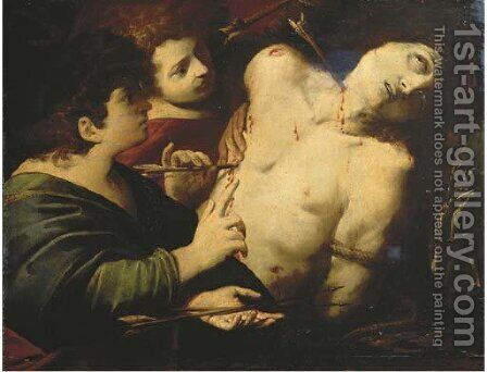 Saint Sebastian tended by Saint Irene by (after) Luigi Amidani - Reproduction Oil Painting