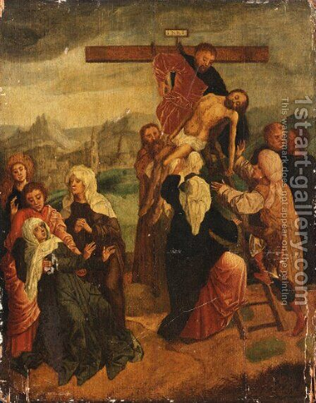 The Descent from the Cross by (after) Marcellus Coffermans - Reproduction Oil Painting