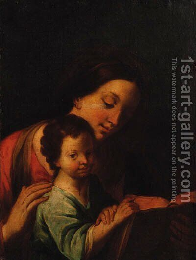 The Education of the Infant Christ by (after) Marcantonio Franceschini - Reproduction Oil Painting