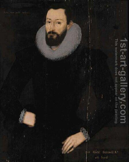 Portrait of Sir Richard Reynell (1553-1633), of Ford by (after) Marcus The Younger Gheerhaerdts - Reproduction Oil Painting