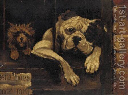 Dogs home by (after) Margaret Collyer - Reproduction Oil Painting