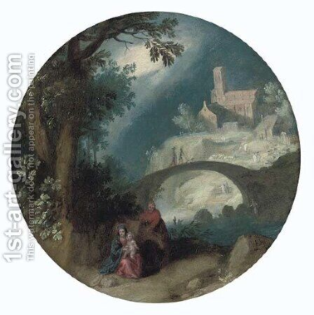 The Rest on the Flight into Egypt by (after) Marten Ryckaert - Reproduction Oil Painting