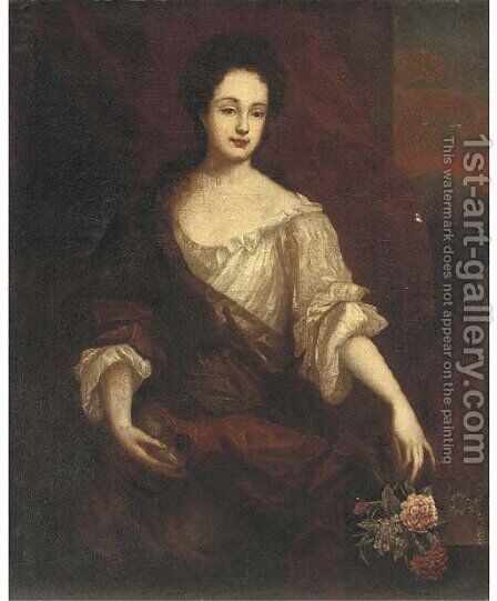 Portrait of a lady 2 by (after) Mary Beale - Reproduction Oil Painting