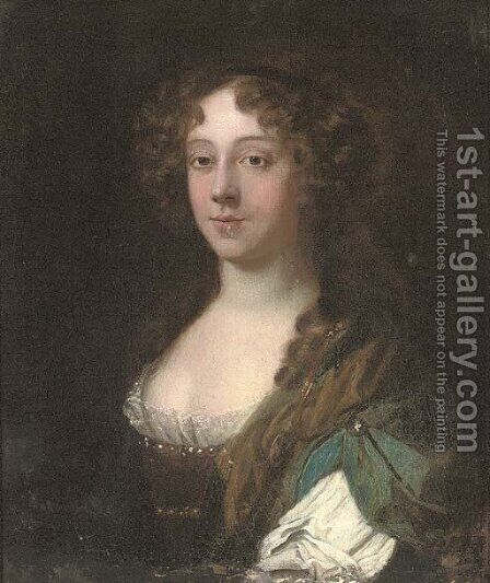 Portrait of a lady, traditionally identified as Lady Middleton by (after) Mary Beale - Reproduction Oil Painting