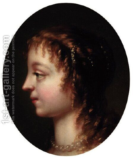Portrait of a young lady by (after) Mary Beale - Reproduction Oil Painting