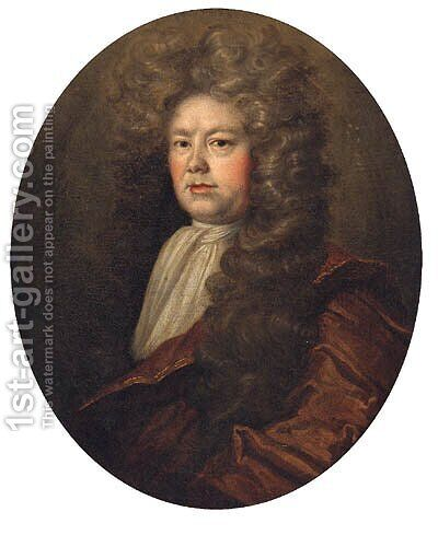 Portrait Of John Wood, Lord Mayor Of The City Of York, Half-Length, In A Brown Mantle by (after) Dahl, Michael - Reproduction Oil Painting