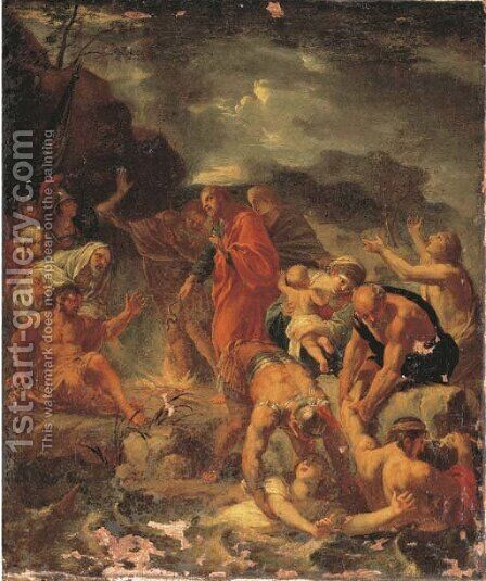 Saint Paul on Malta by (after) Michel I Corneille - Reproduction Oil Painting