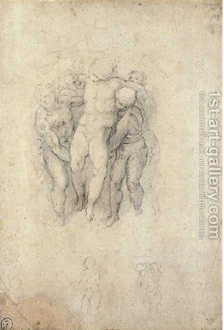 Study for an Entombment by (after) Michelangelo Buonarroti - Reproduction Oil Painting