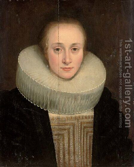 Portrait of a lady 2 by (after) Michiel Jansz. Van Mierevelt - Reproduction Oil Painting