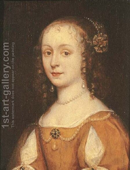 Portrait of a young woman by (after) Michiel Jansz. Van Mierevelt - Reproduction Oil Painting