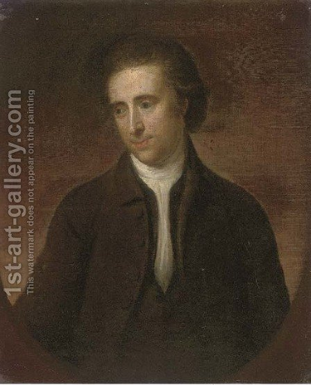 Portrait of a gentleman by (after) Nathaniel Hone - Reproduction Oil Painting