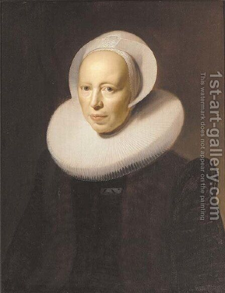 Portrait of a lady by (after) Nicolaes Eliasz. Pickenoy - Reproduction Oil Painting