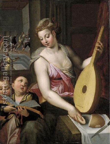 An Allegory Of Music by (after) Otto Van Veen - Reproduction Oil Painting