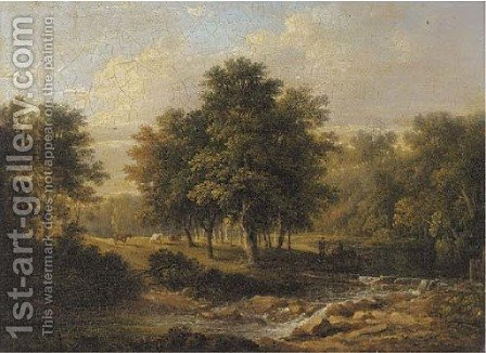 The ford at Woodhall by (after) Patrick Nasmyth - Reproduction Oil Painting