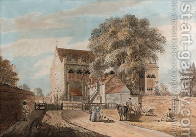 The Great Hall, Eltham Palace by (after) Paul Sandby - Reproduction Oil Painting