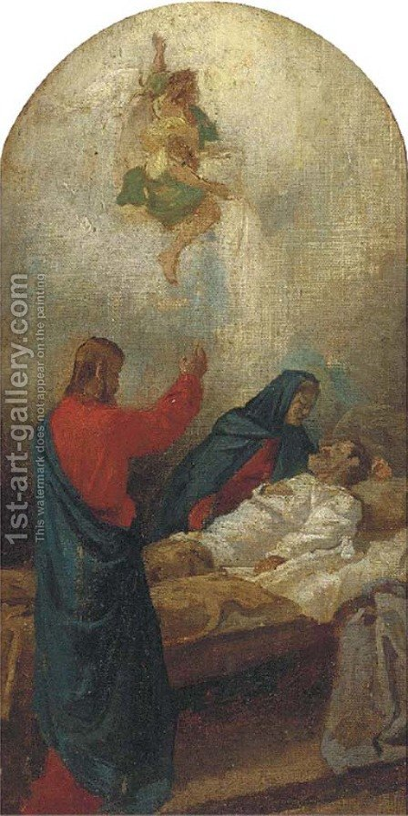 The Death of Joseph by (after) Paul Troger - Reproduction Oil Painting