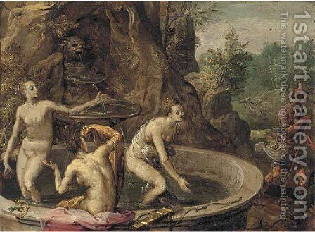 Diana and Actaeon by (after) Paolo Fiammingo - Reproduction Oil Painting