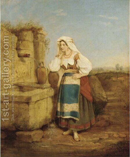 At the well by (after) Penry Williams - Reproduction Oil Painting