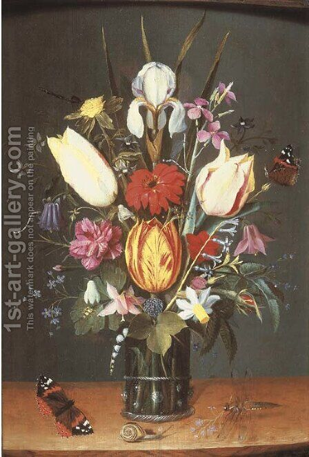 Flowers by (after) Peter Paul Binoit - Reproduction Oil Painting