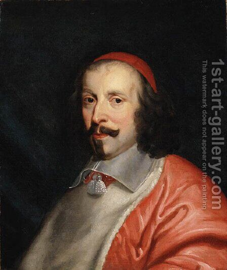 Portrait of Cardinal Richlieu by (after) Philippe De Champaigne - Reproduction Oil Painting