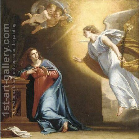 The Annunciation by (after) Philippe De Champaigne - Reproduction Oil Painting