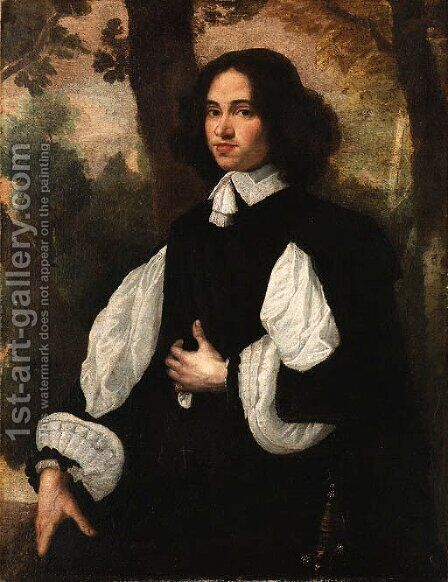 Portrait of a Gentleman by (after) Pier Francesco Cittadini - Reproduction Oil Painting