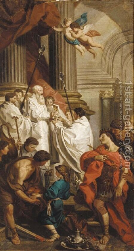 The Mass of Saint Basil by (after) Pierre Subleyras - Reproduction Oil Painting