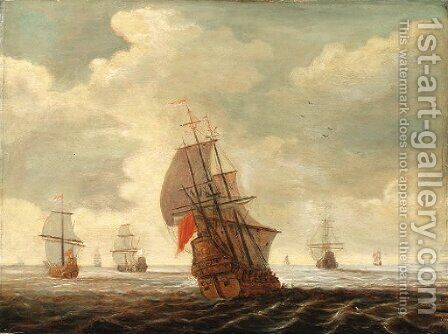 Dutch shipping by (after) Pieter Bout - Reproduction Oil Painting