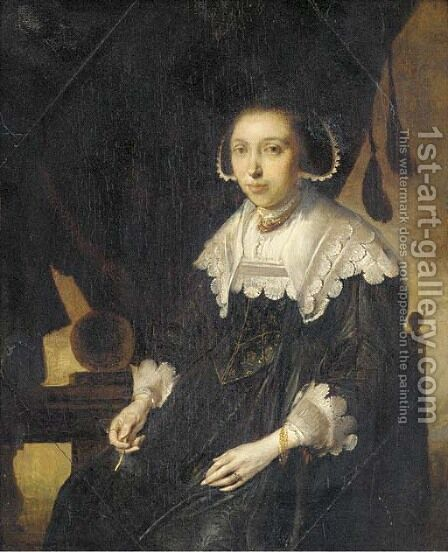 Portrait of a lady by (after) Pieter Codde - Reproduction Oil Painting