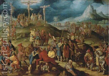 The Crucifixion by (after) Pieter Coecke Van Aelst - Reproduction Oil Painting