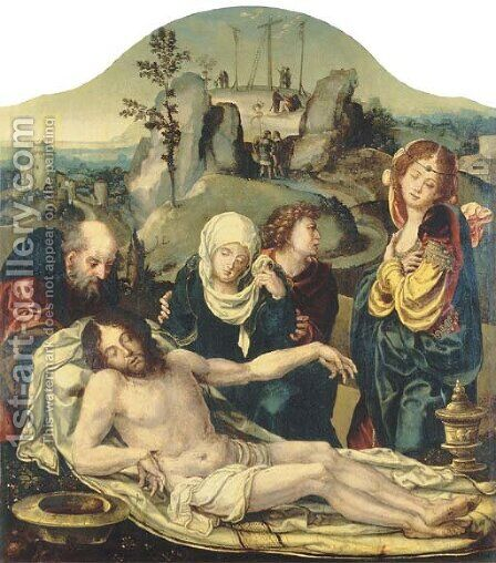 The Lamentation by (after) Pieter Coecke Van Aelst - Reproduction Oil Painting