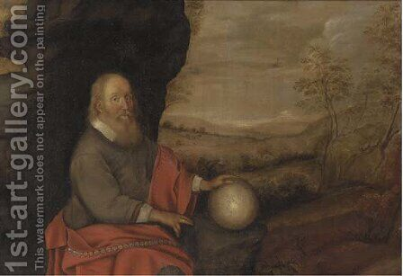 An Astrologer in a landscape by (after) Pieter De Grebber - Reproduction Oil Painting