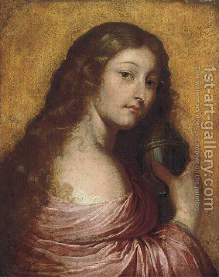 The Penitent Magdalen by (after) Pietro Della Vecchia - Reproduction Oil Painting