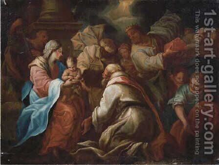 The Adoration of the Magi by (after) Pietro Francesco Guala - Reproduction Oil Painting