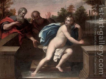 Susanna and the Elders by (after) Pietro Liberi - Reproduction Oil Painting