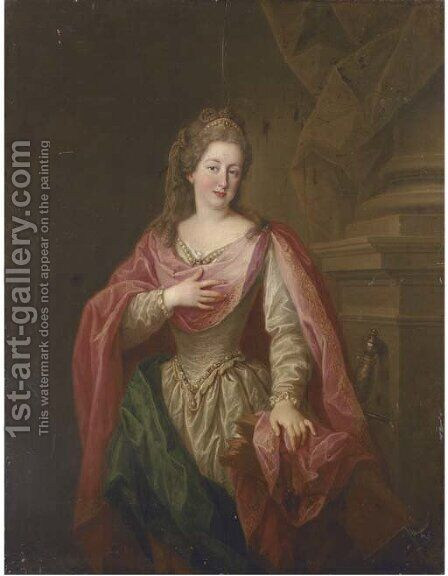 Portrait of a lady by (after) Pompeo Gerolamo Batoni - Reproduction Oil Painting