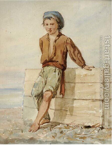 The fisherboy by (after) Prosper-Joseph Florence - Reproduction Oil Painting